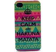 Keep Calm and Hakuna Matata Tribal Carpet Pattern TPU Soft Case for  iPhone 4/4S
