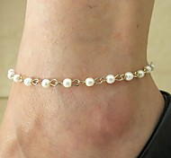 Shixin® Fashion Handmade Golden Alloy Anklet(Blue,White,Pink)(1 Pc)