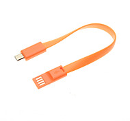 0.2M Magnetic Style Double-Faced USB Port Noodle Shape Cable for for Samsung Galaxy S2/S3/S4/Note2,HTC M7/M8