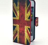 World Cup Retro UK Flag Pattern Hard Case with Card Slot and Matte PC Back Cover for iPhone 5/5S