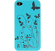 Patroon hard plastic Butterfly Back Cover / Skin Case voor iPhone 4/4S