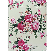 Colorful Flowers Pattern PU Leather and Hard Back Cover Pouch for Samsung Tab4 10.1 T530