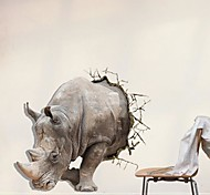 3D The Rhino pegatinas de pared Tatuajes de pared