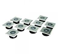 Set von 8 Edelstahl-weiße LED-Edelstahl-Solar-Leuchten Decking
