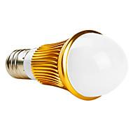 E26/E27 3 W 3 High Power LED 280 LM Warm White A Globe Bulbs AC 85-265 V
