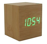 Shibaojia ® LED Clock Wooden Clock Sound Control Fasionable Design