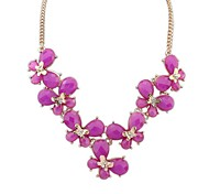 Fashion Alloy Resin Butterfly Statement Necklaces(4 Colors)