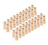 5,5 mm Kugel Bananen-Connect-Stecker für RC Batterie 20 Paare