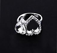 (1 Pc) Europeu Diamante Coração Unisex como Anéis Imagem (Ouro Preto)