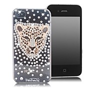 HOHONG (TM) Bling Leopard Dachte Strass Case für iPhone 4 / 4S