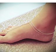 shixin® donne della punta di connessione europei lega cavigliere (10cm * 8cm * 2 cm) (oro, argento) (1 pc)