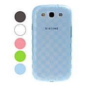 For Samsung Galaxy Case Translucent / Pattern Case Back Cover Case Geometric Pattern TPU Samsung S3