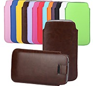 Angibabe Pull Tab Leer Skin Pouch Pocket Leather Case voor Samsung Galaxy S5 G900 / I9600