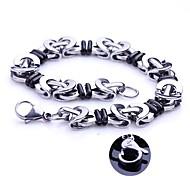 Mode Personalisierte Geschenke Handgefertigte Edelstahlschmuck Gravur Chain Link Armbänder 1.1cm Breite