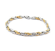 Stainless Steel Gold&Silver Round Chain Bracelet