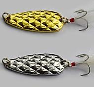 Vendita Hot New 9g/5.2cm metallo Spoon esche da pesca a caso il colore misti (10pz)