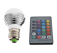 3W E26/E27 LED Kugelbirnen 1 High Power LED 240 lm RGB AC 220-240 V