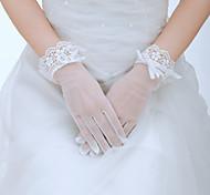 Wrist Length Fingertips Glove - Tulle Bridal Gloves/Party/ Evening Gloves
