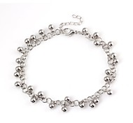 Lady's Fashion Bead Metallic Anklets
