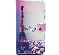 Eiffel Tower Singer Pattern PU Leather Case with Stand Card Holder for Samsung Galaxy Note 3 N9000