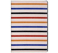 Tiras de colores Patrón PU Funda de cuero protectora para el iPad de aire