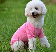 Dog T-Shirt - XS / S / M / L / XL - Summer - Red / Green / Blue / Pink / Yellow / Orange Cotton