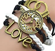 shixin® europeo navy braccialetto di cuoio multicolore 18 centimetri femminile (1 pc)