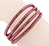 Les quatre rangées Rose bracelet de diamant