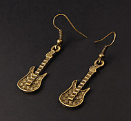 Cute Guitar Copper Earrings(1 Pair)