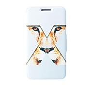 Kinston X Tiger-Augen-Muster PU-Leder-Ganzkörper-Case mit Ständer für HTC ein (M8)