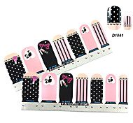 4x7PCS Pink Beauty of Girl Nail Art Stickers