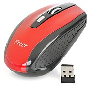 FREER  LW-330 2.4GHz 1000 / 1600DPI Wireless Optical Mouse - Red (2 x AAA Batterys)