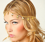 shixin® europäischen Blatttroddeln goldenen Legierung Stirnbänder für Frauen (1 PC)
