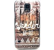 Wander Lost Pattern Hard Case für das Samsung Galaxy i9600 S5