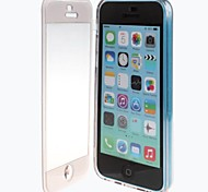 Clamshell Designed TPU Soft Full Body Case with Transparent Front Cover for iPhone 5C (Assorted Colors)