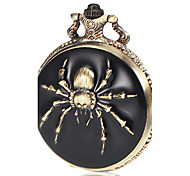 Men's Spider Pattern Bronze Alloy Quartz Pocket Watch