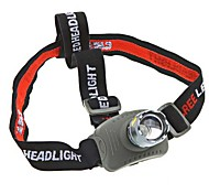 Headlamps LED Mode 160 Lumens Waterproof Cree Q5 10440 / AAA Camping/Hiking/Caving Black Plastic