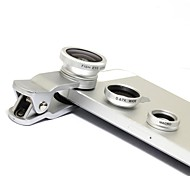 Objectif Clip Universal Grand Angle Macro + + Fisheye - Argent
