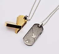 Golden / Black Pendant Necklaces Daily / Casual Jewelry