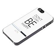 Essere Custodia protettiva posteriore dura felice per iPhone 5/5S