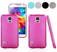 reine Farbe Pudding tpu Ganzkörper Fall für i9600 Samsung Galaxy s5