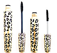 2PCS Leopard Waterproof Expansão Eye Lash Mascara Alongamento Curling Set (1 Mascara 1 Fibras)