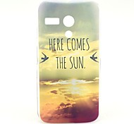 Sun Comming Here Pattern Plastic Hard Case for Motorala Moto G