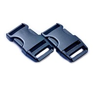 Luggage Strap Belt Clip Plastic Side Release Buckles - Black (2-Pieces Pack)