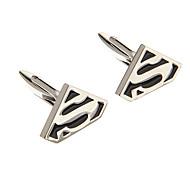 Fashion  S Symbol Shape Silver Alloy Cufflinks(1 Pair)