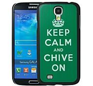 Halten Sie Ruhe und Schnittlauch auf Muster Kunststoff Hard Schutzhülle für Samsung i9500 Galaxy S4