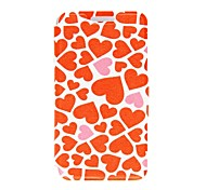 For iPhone 5 Case Pattern Case Full Body Case Heart Hard PU Leather iPhone SE/5s/5
