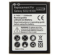 2300mAh Cell phone Battery Black for Samsung Galaxy SIII/i9300 with Charger