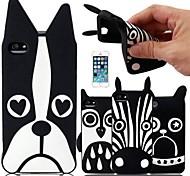 Animali Cartoon modello Custodia in silicone per iPhone4/4S (colori assortiti)