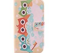 Nehmen Sie eine Dusche Von der Owl Design PU-Leder und Kunststoff Rückseite Full Body für Motorola MOTO G